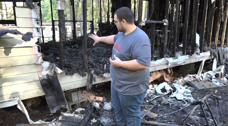 East Campbell man loses home, dog to devastating fire