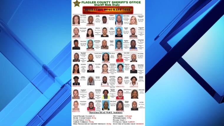 $40,000 worth of drugs seized in Flagler County drug sweep