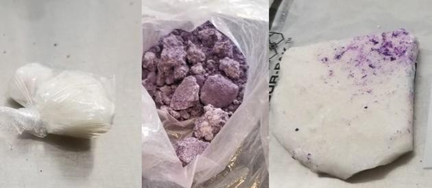 Purple fentanyl, heroin, crack cocaine uncovered in downtown