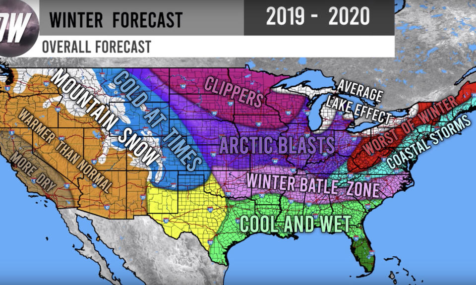 Winter Weather Forecast For 2019 - 2020 From Direct Weather