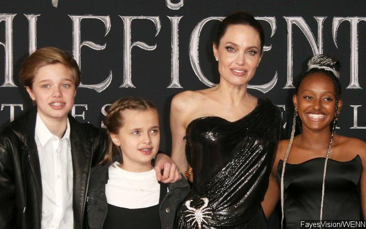 Angelina Jolie S Daughter Zahara Shows Her Natural Curls At
