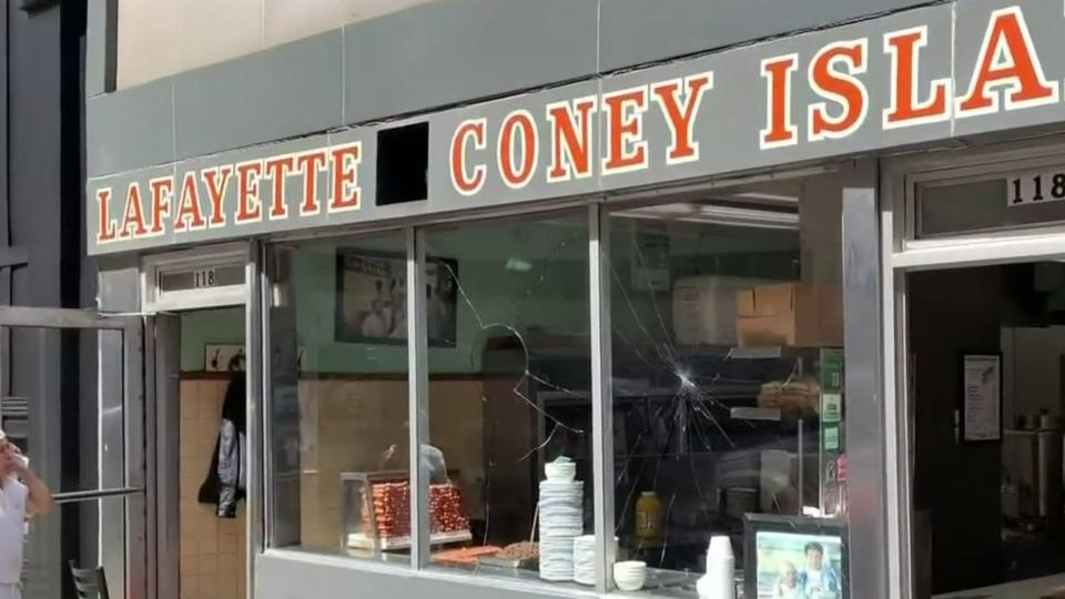 Lafayette Coney Island window smashed, arrests made after