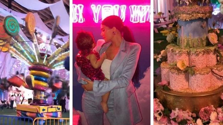 Prime Kylie Jenner Throws An Epic First Birthday Party For Daughter Funny Birthday Cards Online Kookostrdamsfinfo