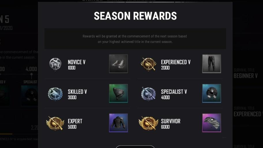 Pubg Season 5 Survivor Pass Badlands Seasonal Rewards To Be