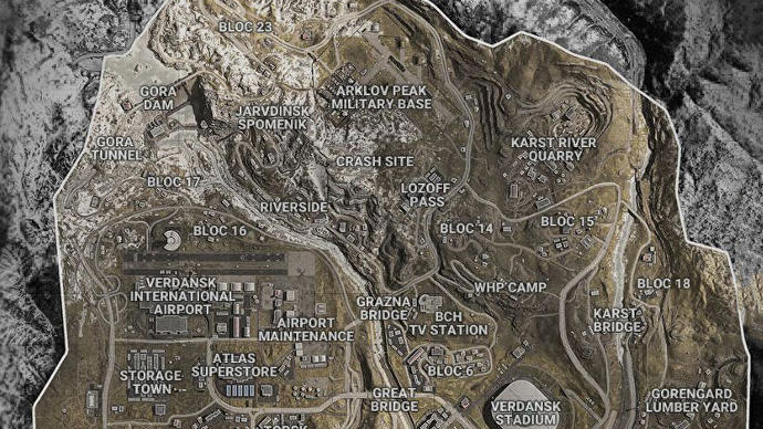 Call Of Duty Warzone Map Including Sectors And Zones Explained