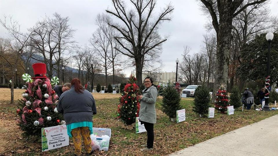 Christmas In The Park 2020 Chatsworth Ga Chatsworth community trims 110 trees ahead of 3rd Christmas in the