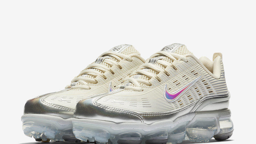 """This Nike Air VaporMax 360 Features Cream and Silver Nowości """"title = News"""