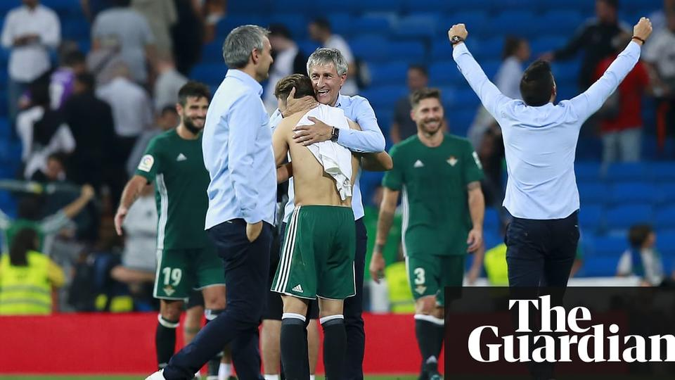 Real Betis Manager Quique Setien How To Beat Real Madrid News Break