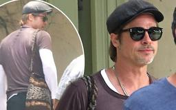 Brad Pitt looks effortlessly cool in black shades on errand run after 'issuing ex Angelina Jolie an ultimatum to sign divorce papers or face fine'