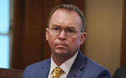 Trump rebukes Mick Mulvaney for coughing during interview