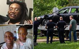 PICTURED: Michigan mom, 44, and her nine-year-old twin daughters who died after she 'intentionally drove her car into the Kalamazoo River' as her family reveal she showed signs of depression and 'didn't seem like herself'