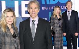 Michelle Pfeiffer cuts a chic figure in a plaid suit as she supports husband David E. Kelley at Big Little Lies 2 premiere