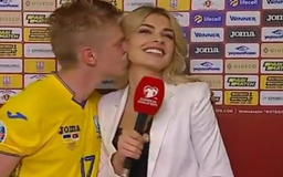 Soccer Star Kisses Smoking Hot Reporter During Interview Following Big Win (VIDEO + PICS)
