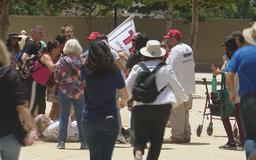 Confrontation erupts during 'Impeach Trump' rally in downtown