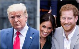 Donald Trump called Meghan Markle 'nice' and said Prince Harry is a 'terrific guy' despite rumours the royal avoided him at Buckingham Palace