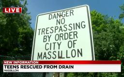 Massillon officer saves life of driver who overdosed, right after rescuing teens from flooded pipeline