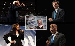 'We can't take four more years!' NINETEEN Democrats descend on the same Iowa stage in 2020's first cattle-call audition to take down Trump – but Joe Biden is NOT there