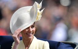 Kate Middleton stuns in a yellow Alexander McQueen coat dress at Trooping the Colour