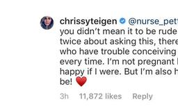 Chrissy Teigen reminds us why it is never OK to ask a woman if she is pregnant