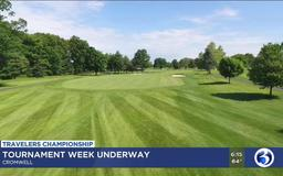 Practice, junior golfing, military mom baby shower on tap for Travelers Championship