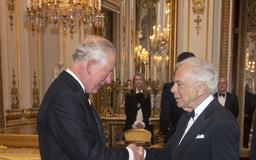Prince Charles Presents Ralph Lauren With Honorary Knighthood at Buckingham Palace