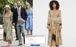Now James Middleton's girlfriend sparks a fashion frenzy! Alizee's £50 H&M dress sells out after her royal wedding appearance - and ends up eBay for TWICE the price