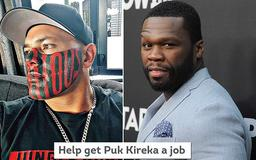 Gangster who was mocked by 50 Cent for having the word 'NOTORIOUS' tattooed on his face asks strangers to pay for him to go to university