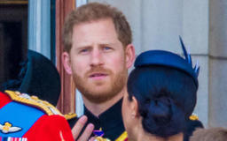 """Prince Harry Got Caught On Camera Telling Duchess Meghan To """"Turn Around"""" At Trooping The Colour"""