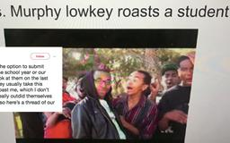 Students roast their English teacher with memes about the school year