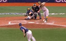 VIDEO: Chaz Roe Literally Throws the Same Pitch to Khris Davis 7 Times in a Row and Strikes Him Out