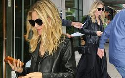 Michelle Pfeiffer, 61, looks incredibly youthful as she leaves NYC hotel wearing a glam all-black ensemble