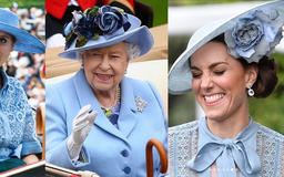 Queen Elizabeth, Kate Middleton, And Princess Beatrice In Shock After Showing Up To Royal Ascot In Identical Outfits; Kate Middleton In Hysterics