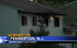 2 people with stab wounds found inside burning home in Burlington County, New Jersey, officials say