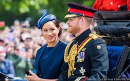 Meghan Markle Appears to Get Told Off by Prince Harry at Trooping the Colour - Watch