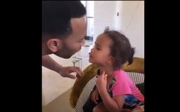 John Legend and Daughter Luna Shared the Sweetest Moment Straight From 'Lady and the Tramp'