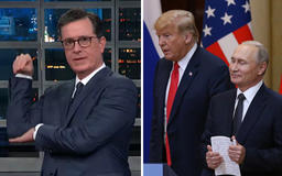 """Stephen Colbert Slams Trump for Being Putin's """"Dummy"""" with """"His Hand Up Your Butt"""""""