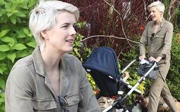 Agyness Deyn looks every inch the doting mother as she sweetly coos over her baby during a stroll in New York City
