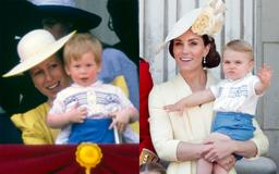 How Prince Louis paid tribute to Prince Harry at his Trooping the Colour debut