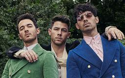 Jonas Brothers rock retro suede Gucci suits on Harper's Bazaar special men's digital cover as they say they are fine with being 'uncool'