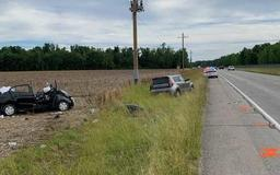 Man dies after crashing into ditch in Ripley County