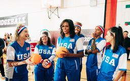 Michelle Obama Played Dodgeball Against James Corden, Proving She'll Always Be USA's MVP — VIDEO