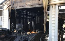 Officials: One sent to hospital after possible explosion, garage fire