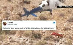 Helicopter rescue gone awry turns into a hilarious Twitter meme