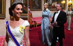 Kate Middleton dazzles in royal jewels as Ivanka Trump wears pastel at Buckingham Palace