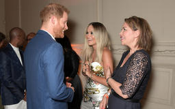 Rita Ora wears sexy dress to perform at Prince Harry concert