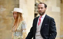 James Middleton arrives for royal wedding with his French financial expert girlfriend Alizee Thevenet, 30, four months after their relationship was revealed