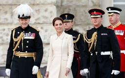 Kate Middleton shows off chic updo hairstyle at Beating Retreat military pageant
