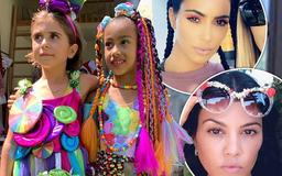 Kim and Kourtney Kardashian spare no expense for North and Penelope's Candyland-themed birthday