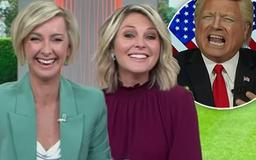 Is this the moment the Today show officially died? Georgie and Deborah awkwardly giggle at Donald Trump impersonator in a cringeworthy segment - as Nine plans an overhaul of the struggling breakfast program