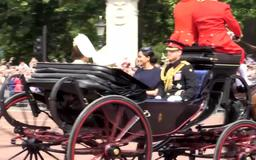 Kate Middleton Recycles Her Philip Treacy Hat from Meghan and Harry's Wedding at Trooping the Colour
